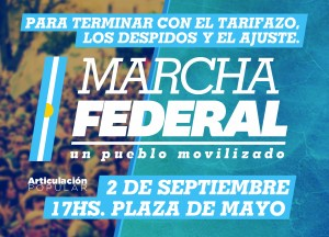 30 A3 marcha federal color