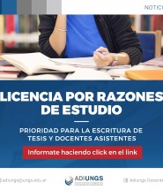 Licencia por razones de estudio