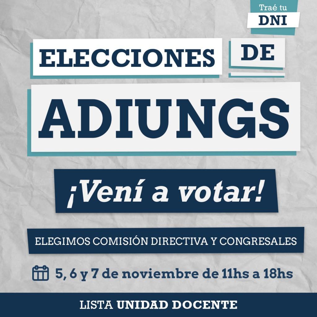 Elecciones ADIUNGS 2018-1