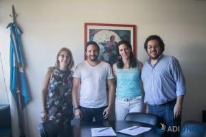 Sonia Filipetto, Pablo Toledo (Secretario de administración de la UNGS), Macarena Rionda, Pablo Bonaldi (Vicerrector de la UNGS)