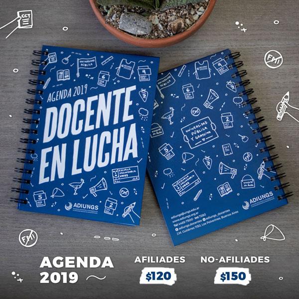 Docente-en-Lucha-Agendas-2019-ADIUNGS