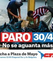 Paro 30 de Abril - Marcha de la Plaza de Mayo