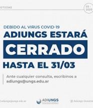 ADIUNGS CERRADO HASTA EL 31-03