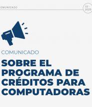 Comunicado Créditos PCs