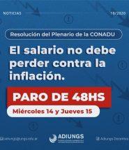 adiungs paro - El salario no debe perder contra la inflacion