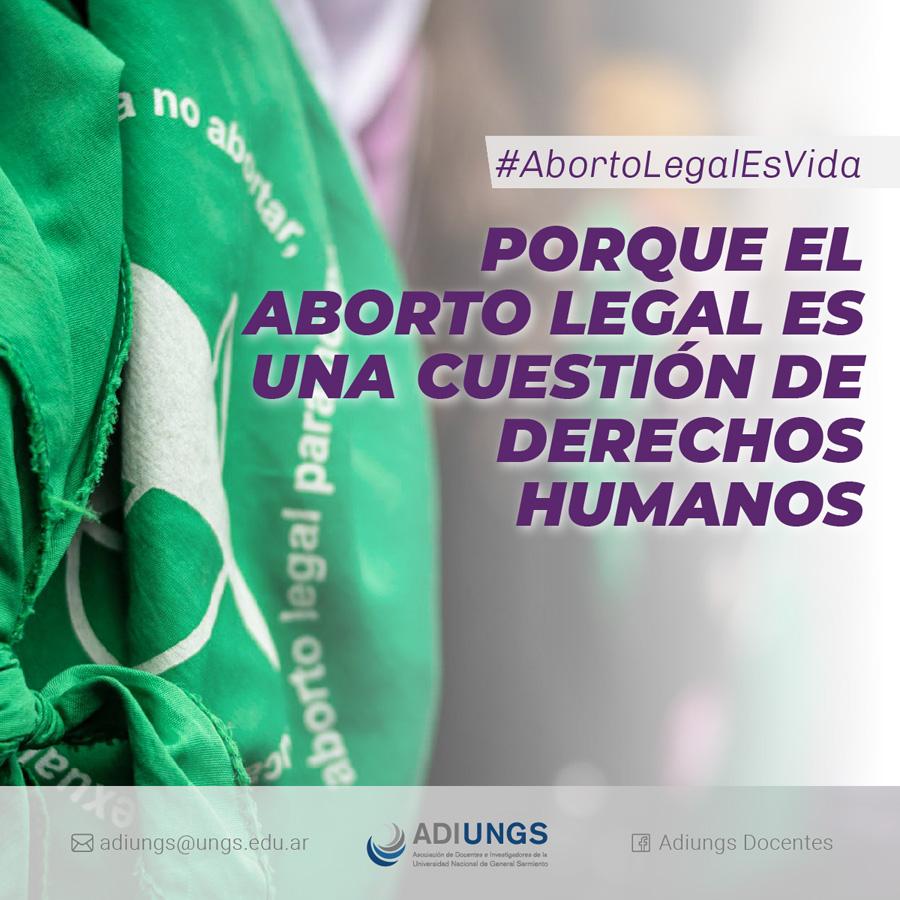 Porque el aborto legal es una cuestión de derechos humanos