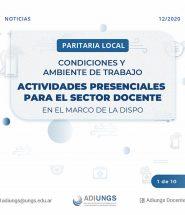 paritaria CyAT Actividades presenciales para el sector docente