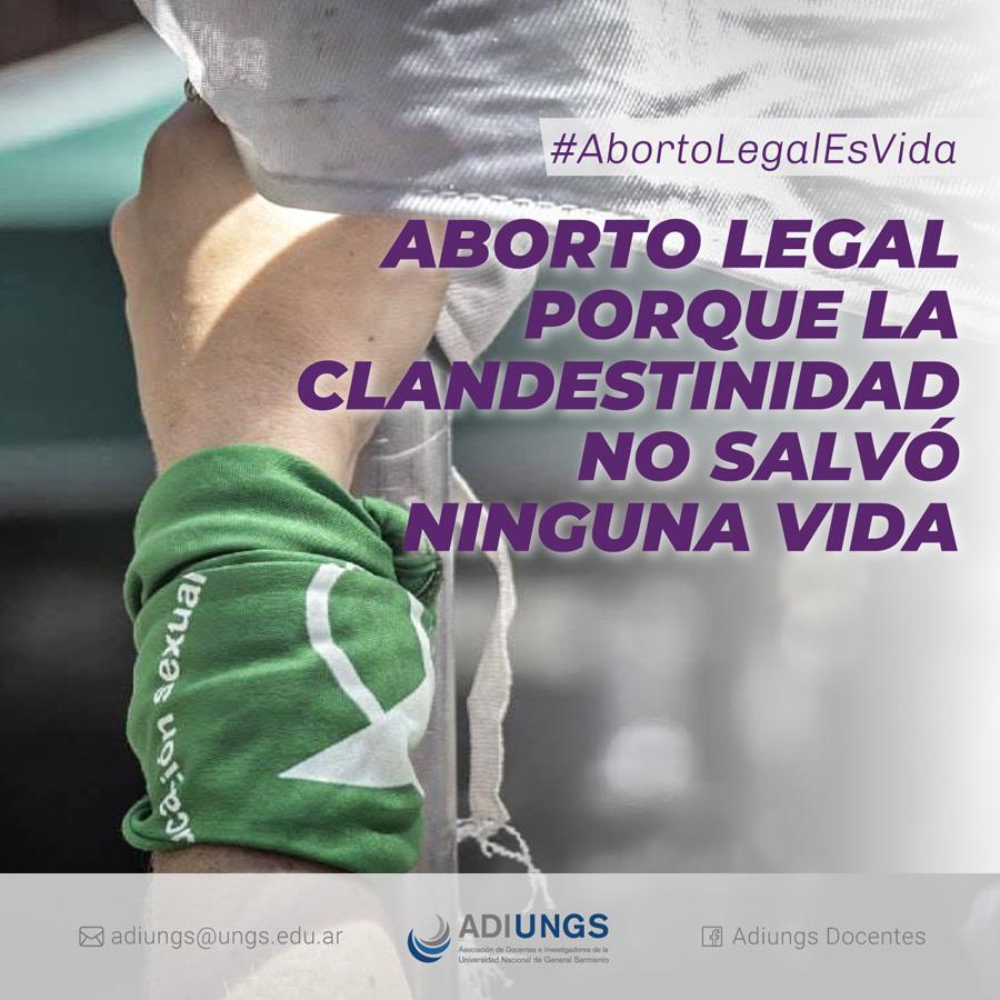 Aborto legal porque la clandestinidad no salvó ninguna vida