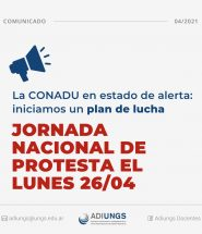 Jornada Nacional de Protesta 26-04