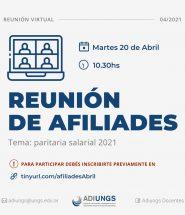 Reunión de Afiliades Abril 2021